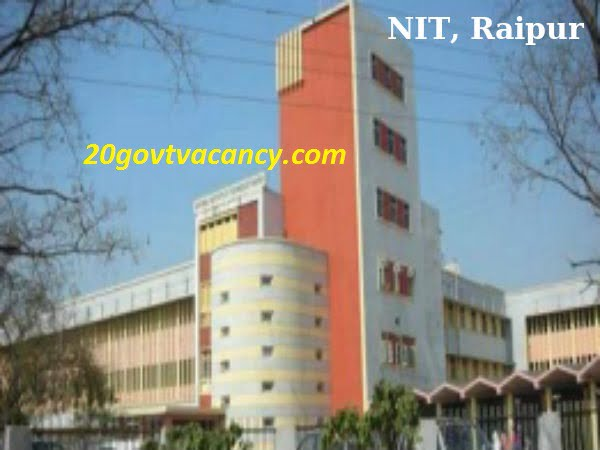 NIT Raipur Recruitment 2021 - Walk in for Senior Research Fellow Posts