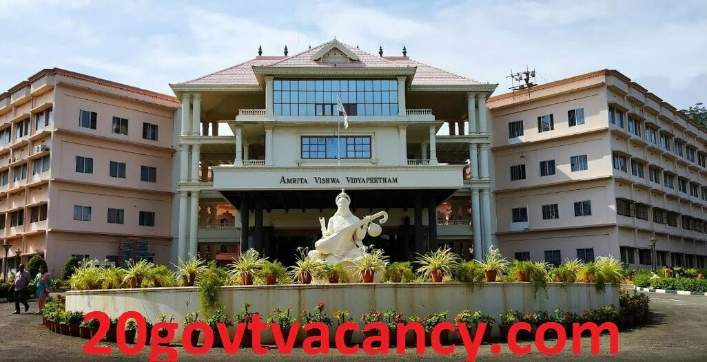 Amrita Vishwa Vidyapeetham Recruitment 2021 - Apply Online for Junior Research Fellow Post Vacancies