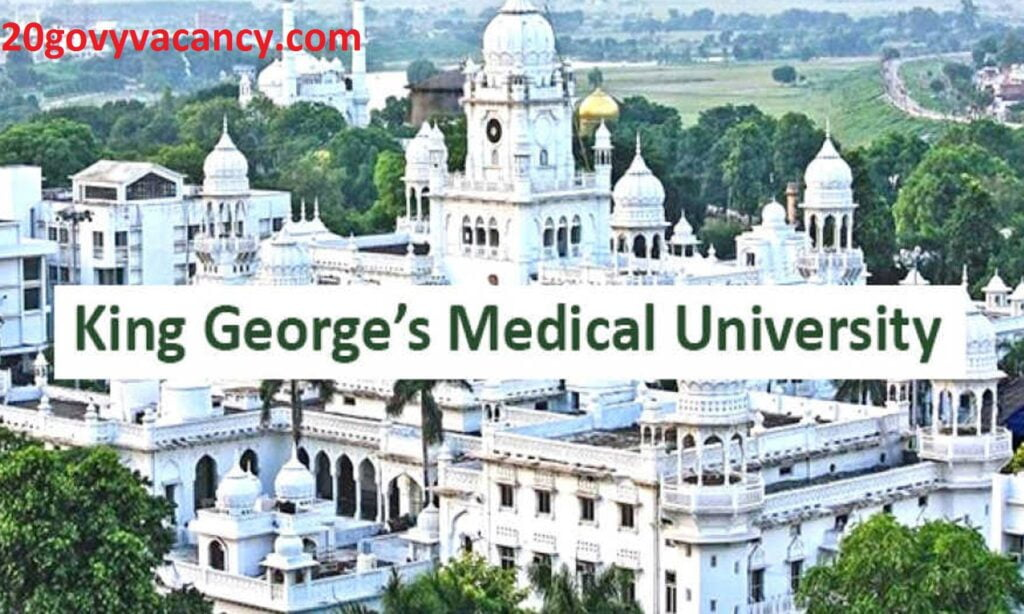 KGMU Lucknow Recruitment