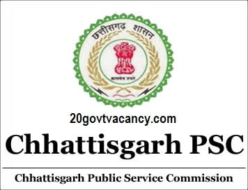 CGPSC Raipur Recruitment 2021 Jobs In Chhattisgarh Public Service Commission