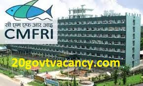 CMFRI Kochi Recruitment 2021 Jobs In Central Marine Fisheries Research Institute Kochi, Kerala