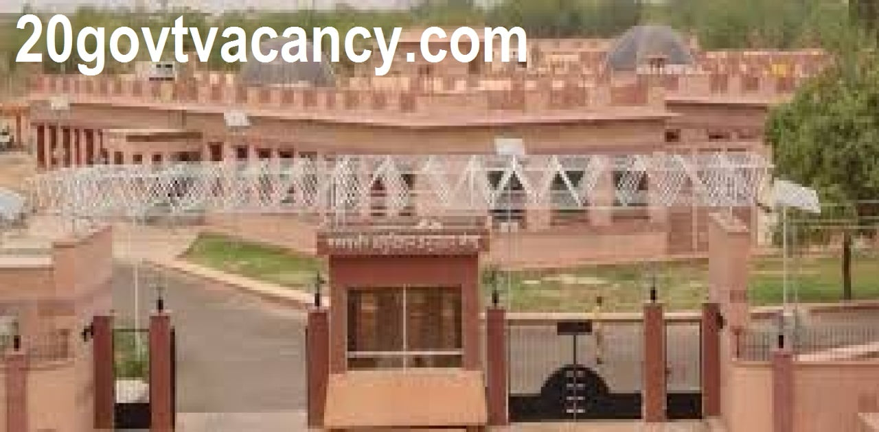DMRC Jodhpur Recruitment 2021 Jobs In Desert Medicine Research Centre