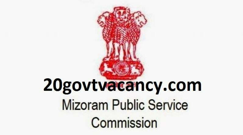 Mizoram PSC Recruitment 2021 Apply For Jr. Grade Post Vacancies