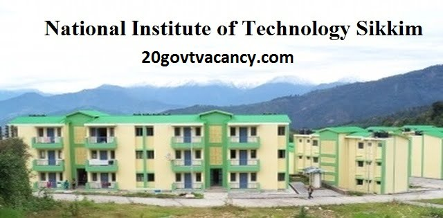 NIT Sikkim Recruitment 2021 Apply For Executive Engineer ( Civil ) Posts Vacancies