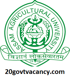 Assam Agricultural University Recruitment 2021 Jobs In Assam Agricultural University
