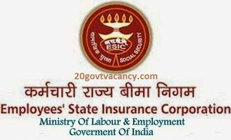 ESIC Manesar Recruitment 2021 Jobs In Employees State Insurance Corporation
