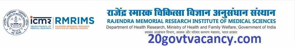 RMRIMS Recruitment 2021 Jobs In Rajendra Memorial Research Institute