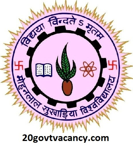 MLSU Recruitment 2021 Jobs In Mohanlal Sukhadia University, Rajasthan