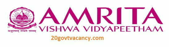 Amrita Vishwa Vidyapeetham University Recruitment 2021 Apply For Junior Research Fellow Posts