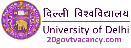 Delhi University Recruitment 2021 Jobs In Delhi University